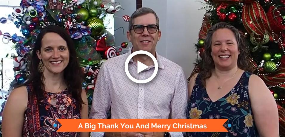 A Big Thank You and Merry Christmas